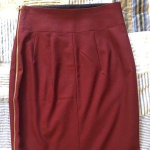Express side zip pencil skirt